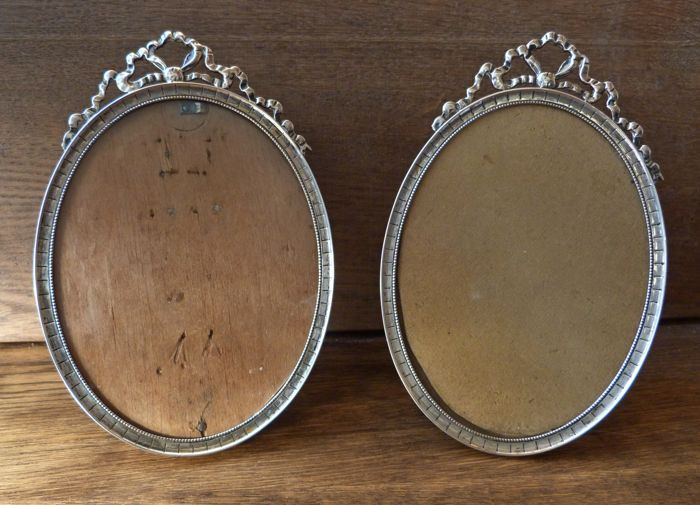 Two identical silver photo frames by Th. Moerkerk - The Netherlands - 1920