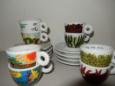 Illy Collection, 8 cups and saucers, Los ninos el mundo & Francis Ford Coppola