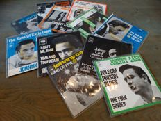 Johnny Cash 'The Man in Black' - Lot of twelve (12) original picture sleeve singles most original Dutch