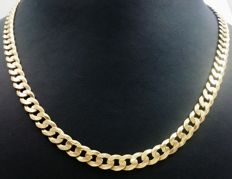 Solid openwork mail necklace in 18 kt yellow gold