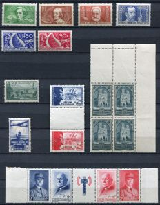 France 1929/43 – Selection of classic stamps