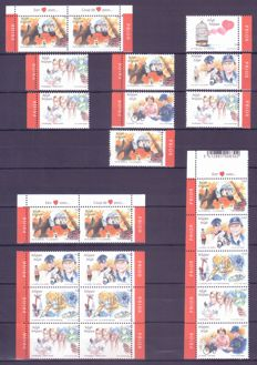 Belgium 2003 - Emergency services with shifted perforation - OBP 3150–3155 - Cu