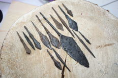 Medieval iron arrowheads -42-157 mm (14)