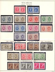 Belgium 1922/1941 - collection tete-beche stamps - OBP KP1-22