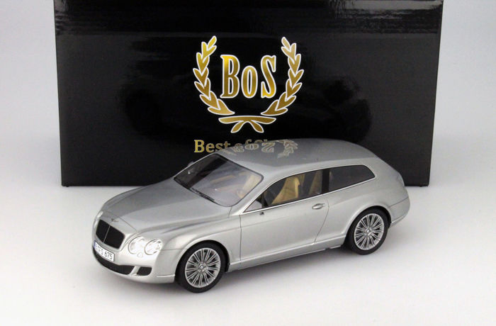 BOS - Scale 1/18 - Bentley Continental Flying Star by Touring 2010 - Silver