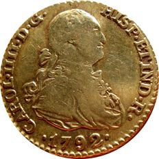 Spain – Carlos IV (1788-1808) – 1 escudo gold coin. Madrid, 1792. MF