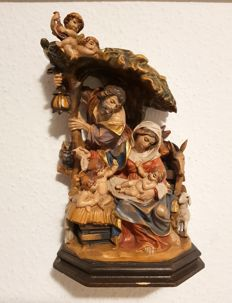 Wooden Statue - Birth of Jesus