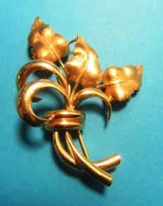 Vintage brooch in 750 gold, 1940s