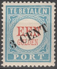 The Netherlands 1910 - Postage due overprint - NVPH P27 type I