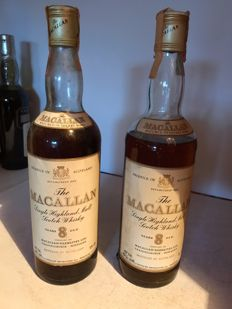 2 bottles - Macallan 8 years old 75cl 43% - OB
