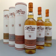 3 bottles - Arran - 16, 17 & 18 Year Old