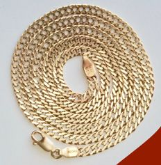 11.02 grams, 14 kt yellow gold men's curb link necklace - Length: 56.50 cm * Without RESERVE PRICE *