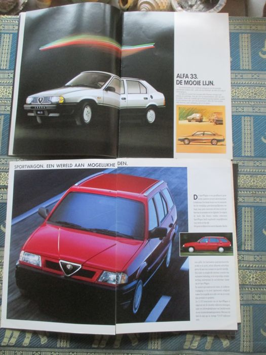 car brochures alfa romeo 16x 1977 1991 catawiki. Black Bedroom Furniture Sets. Home Design Ideas