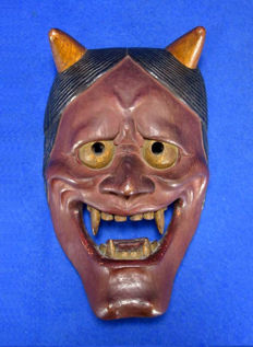 Wood Hannya (Female jealousy demon) Noh mask - Japan - 1970
