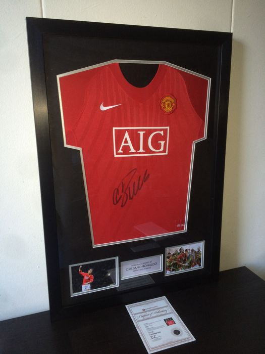 Cristiano Ronaldo - Hand Signed and Deluxe Framed Manchester United Champions League winning shirt 2008 + A1 COA.