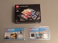 Architecture/Exclusives - 21037, 3850060 & 3850061 - LEGO house Billund + 2 exclusive LEGO House Fish tanks