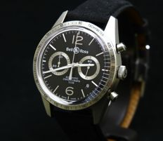 Bell & Ross Vintage Collection Chronograph - BRV126-BS-ST/SF - Full set 2017