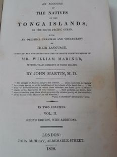 William Mariner - An account of the natives of the Tonga Islands - 1818