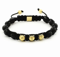 Shambhala bracelet 0.31 ct black diamonds