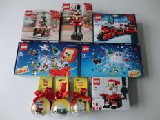 Christmas - limited & exclusive - 9 Sets including - 40223 + 40254 + 40138 + 40222 + 40253 - Snowglobe + Nutcracker + Christmas Train.