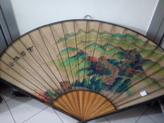 A large Chinese fan - China - late 20th century
