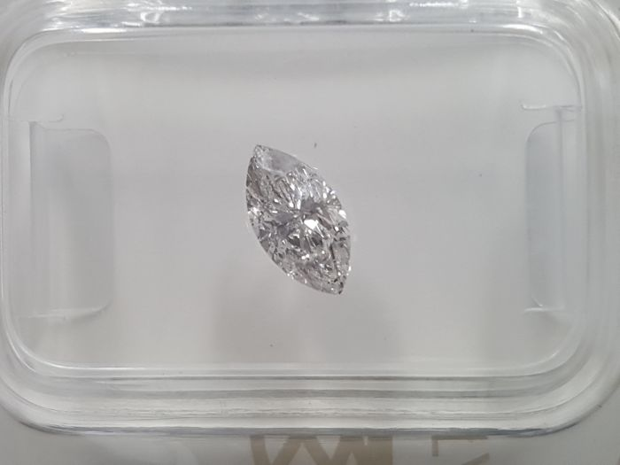 Diamond - 0.51 ct - Marquise - D (colourless) - I1