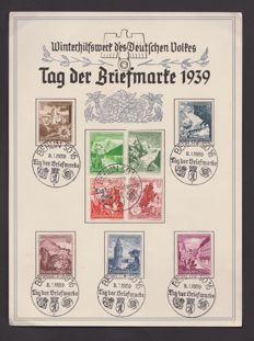 German Reich 1936-1944 - batch of 45 propaganda cards and special cards.