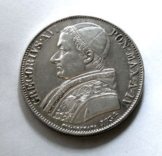 Papal States - Scudo 1834 Rome, Gregory XVI - silver