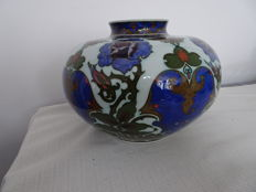 Rozenburg - Nice vase with floral decor