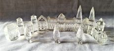 Swarovski - complete city 11 PCs - houses (4) - cathedral - city hall - city gate - city tower - trees (3)