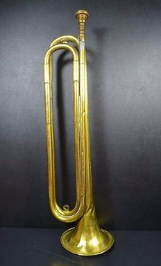 Trumpet from the first world war numbered and stamped