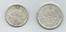 Danzig - 1 Gulden and 2 Gulden - Lot of two coins