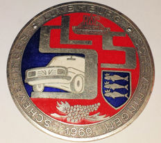 Enamelled commemorative medal / badge R.A.C. West Den Haag 1969 - Scheveningen - Luxemburg - Scheveningen