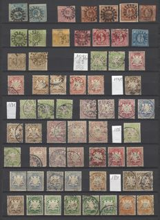 Germany Bavaria 1920s - collection from the square issue