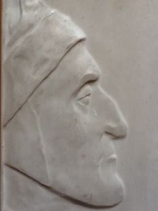 Book objects; Plaster wall plaque of Dante - late 19th century