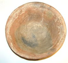 Crudely shaped sacrifice bowl - pottery - 17.5 cm diameter