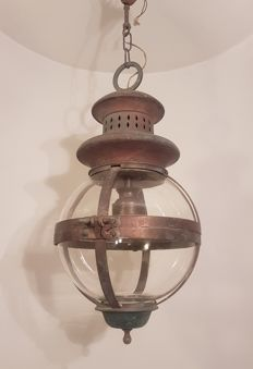 Unknown designer - Lantern copper lamp