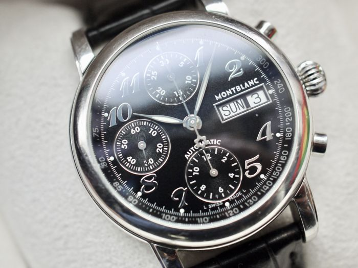 Montblanc Meisterstück Star Chronograph - ref. 7016 - automatic men's watch - full set with box and papers