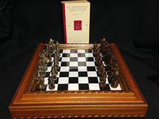 Damascene chess 'Don Quijote de la Mancha', and book.