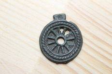Ancient Solar amulet - wheel 28x25 mm