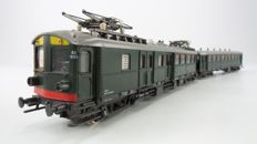 "Roco H0 - 4190S - Electric 2-part passenger train set ""Blokkendoos Mat'24"" 2nd/3rd class of the NS with interior lighting"