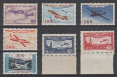 France 1930/1954 - Airmail Selection - Yvert 5, 6, 7, 30/33