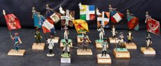 Lot of fourteen soldiers by CBG Mignot soldiers (7) Guy Renaud (2) & H.F (5) - France - Circa 1950 (15)