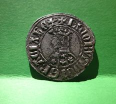 Spain - Jaume II (1291–1327) Croat - Barcelona. incredible medieval silver coin, weight - 4 grams