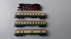 Trix/Ibertren N - 2053/213/214/215 - Steam locomotive Series BR85 and 3 carriages of the DB