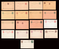 Spain 1889/1962 - Lot of 17 postcards in between Alfonso XIII and Franco periods