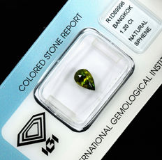 Colour changing sphene - 1.20 ct