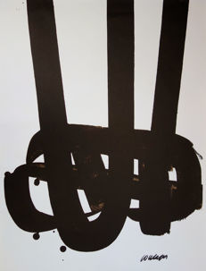 Pierre Soulages - Lithograph n°29