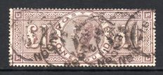 Great Britain, Queen Victoria  SG185 - £1 Brown Lilac Used