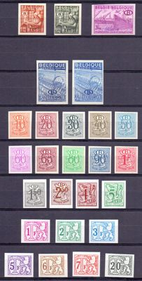 Belgium 1948/1979 - Collection imperforate official and postage due stamps - OBP S42/S56 B